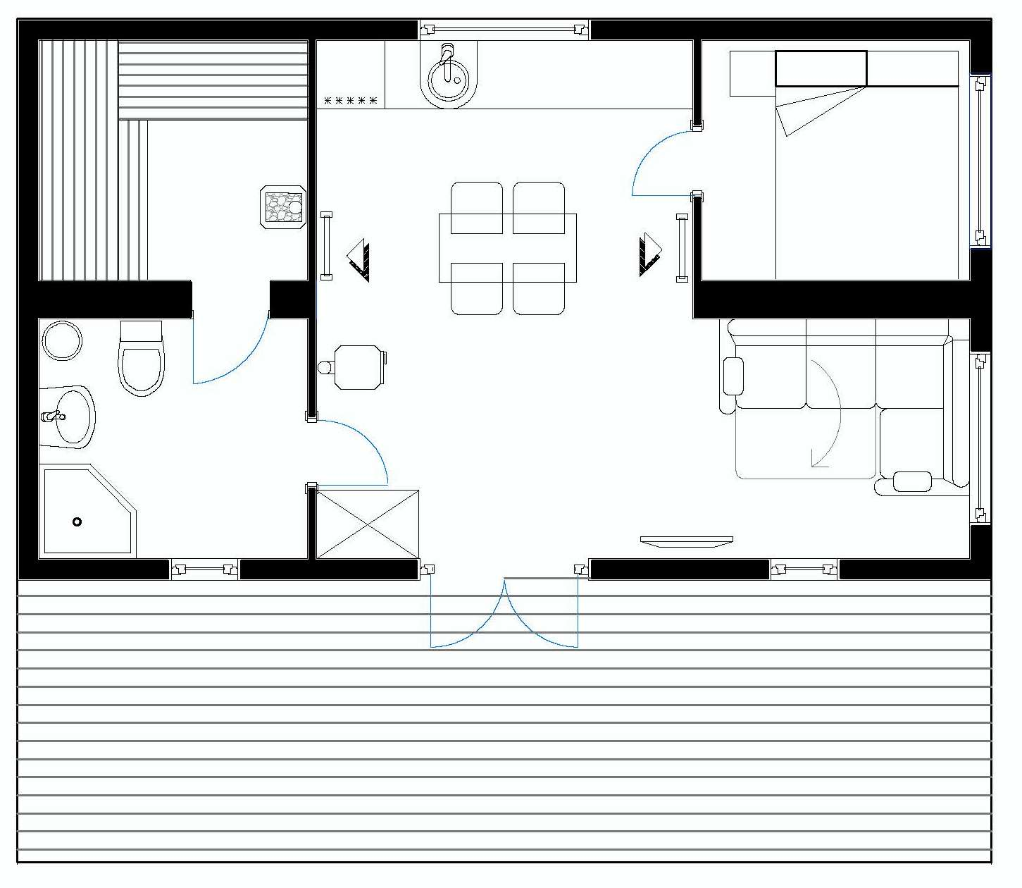 """""""Норвежский дом-баня"""" 52 кв.м."""